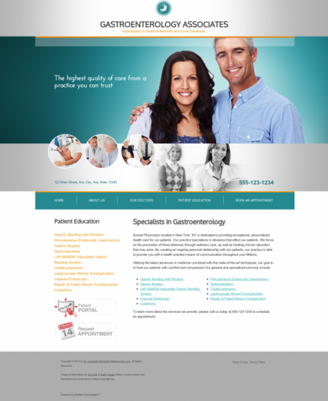 Gastroenterology Website Preview #3