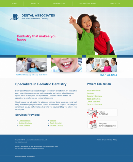 Pediatric Dentistry Website Preview #5