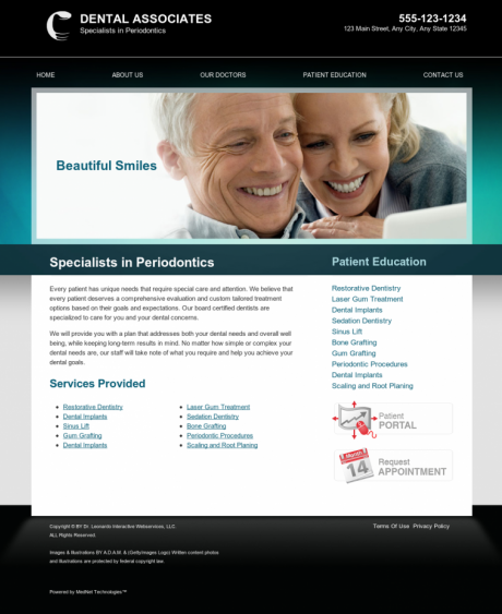 Periodontics Website Preview #3