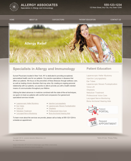 Allergy & Immunology Website Preview #4