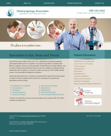 Otolaryngology Website Preview #3