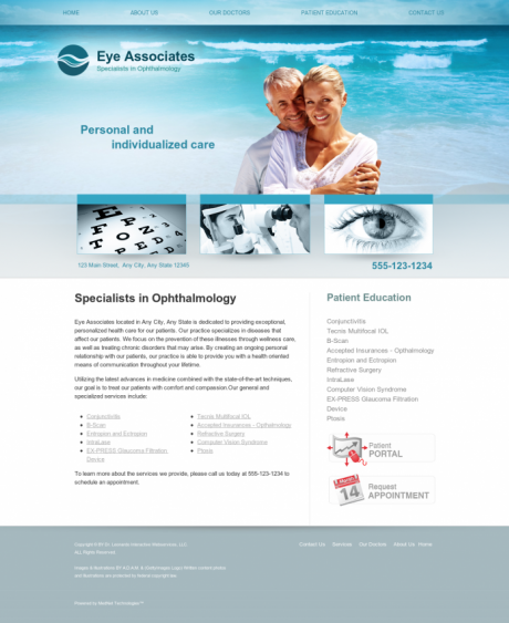 Ophthalmology Website Preview #9