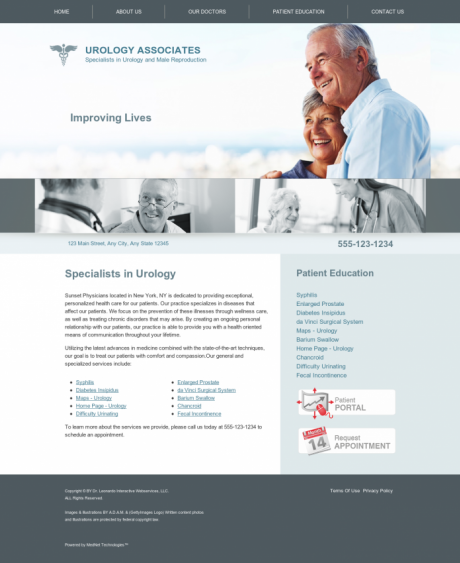 Urology Website Preview #3