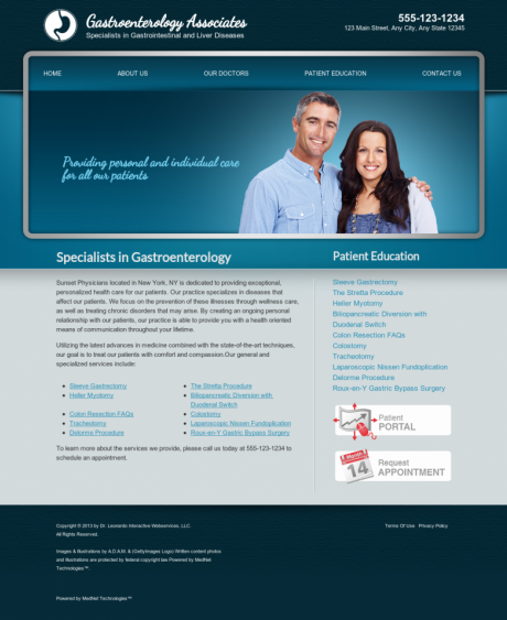 Gastroenterology Website Preview #4