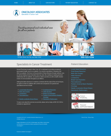Oncology Website Preview #3