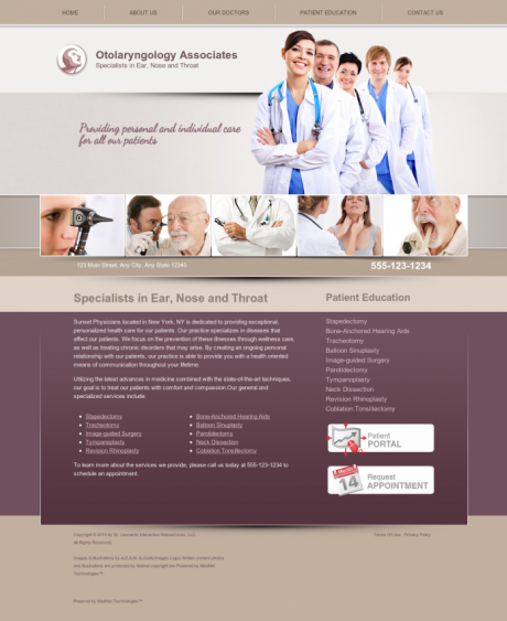 Otolaryngology Website Preview #4