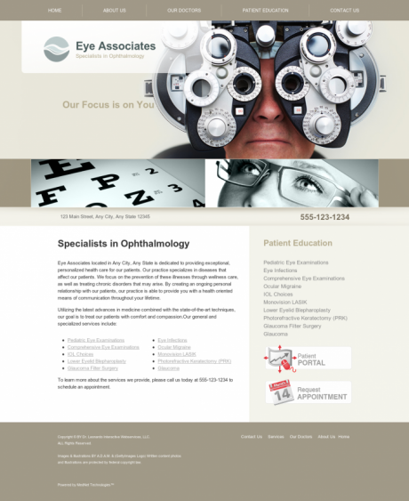 Ophthalmology Website Preview #2