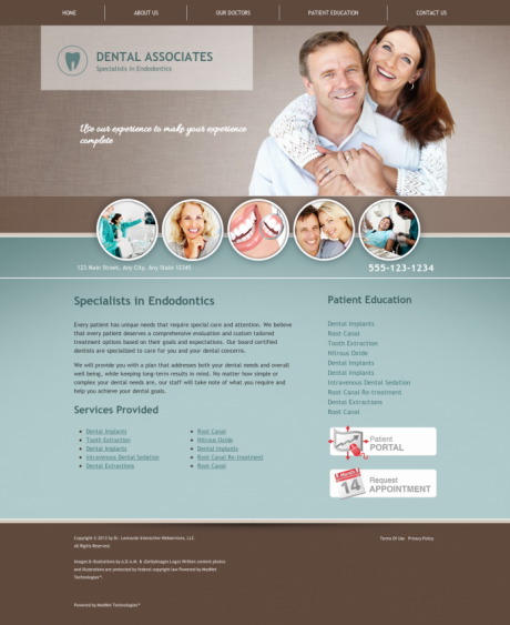 Endodontics Website Preview #5