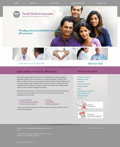 Family Medicine Website Preview #3