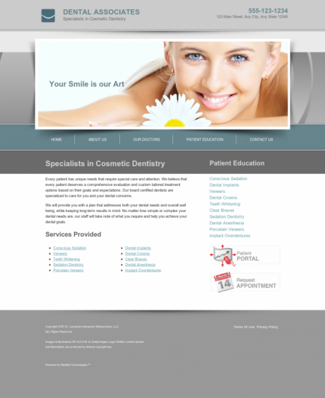 Cosmetic Dentistry Website Preview #5