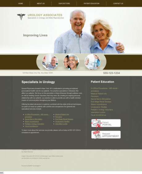 Urology Website Preview #4