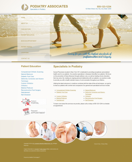 Podiatry Website Preview #6