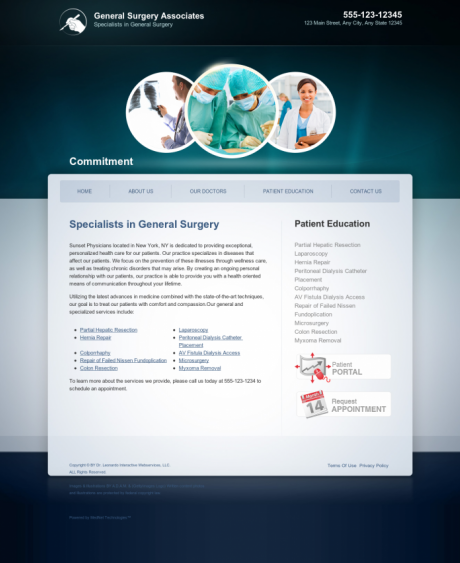 General Surgery Website Preview #6
