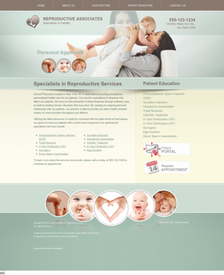 Reproductive Services Website Preview #4