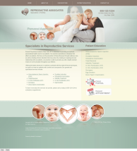 Reproductive Services Website Thumbnail #4