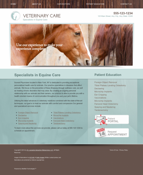 Equine Website Preview #9