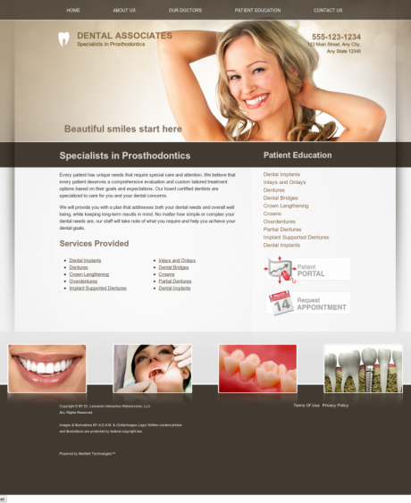 Prosthodontics Website Preview #2