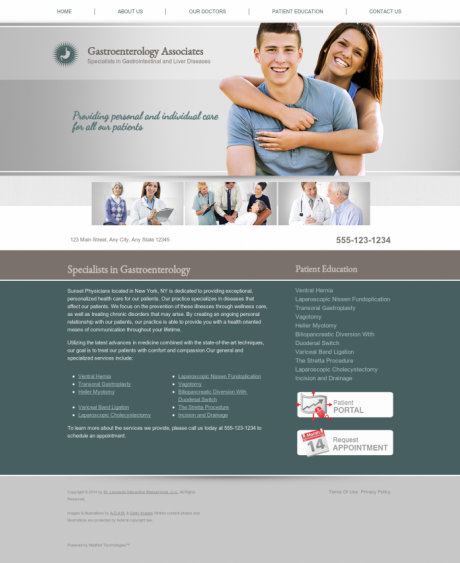 Gastroenterology Website Preview #5