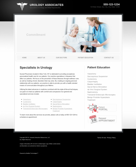 Urology Website Preview #5