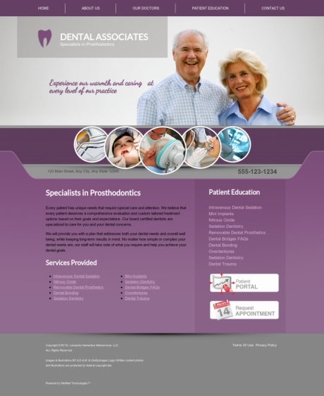 Prosthodontics Website Preview #3