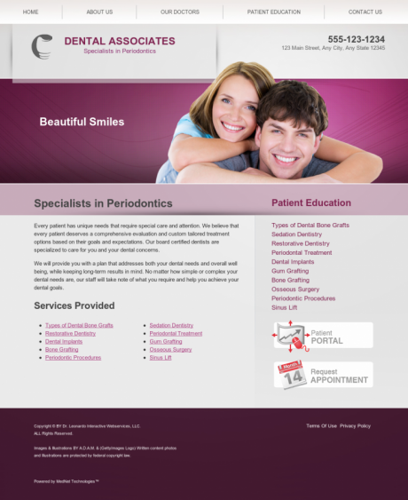 Periodontics Website Preview #4