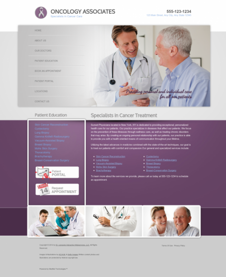 Oncology Website Preview #1
