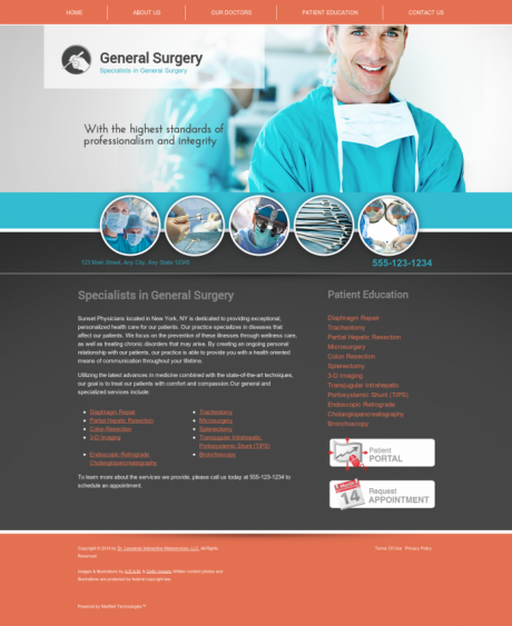 General Surgery Website Preview #8