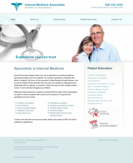 Internal Medicine Website Preview #6