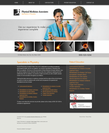 Physical Medicine Website Preview #4