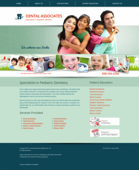 Pediatric Dentistry Website Preview #1