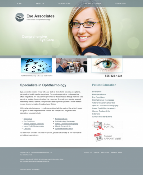 Ophthalmology Website Preview #1