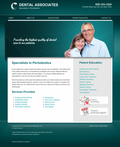 Periodontics Website Preview #5