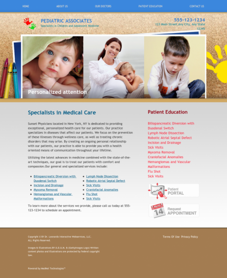 Pediatrics Website Preview #8