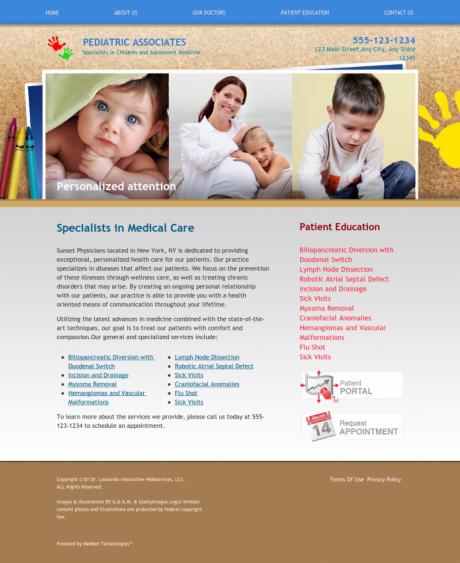Pediatrics Website Preview #8