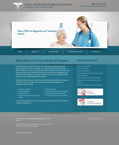 Colon & Rectal Surgery Website Preview #4