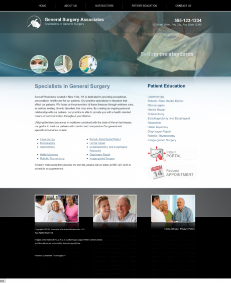 General Surgery Website Preview #9