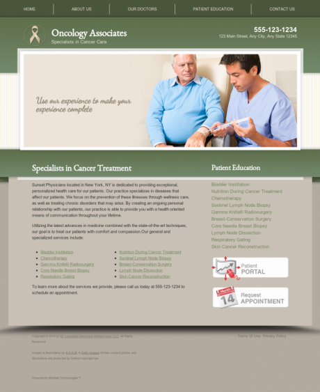 Oncology Website Preview #5