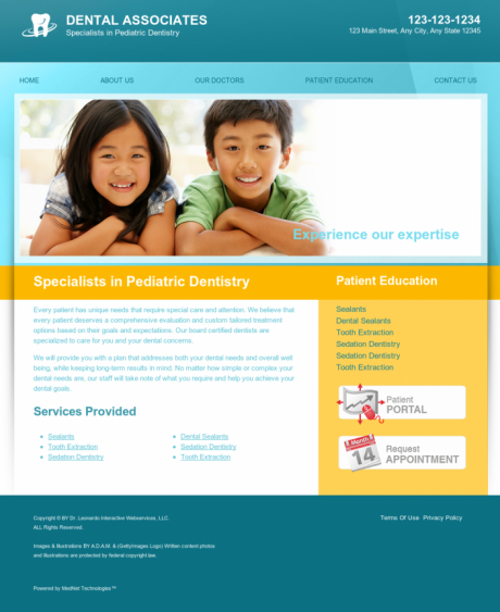 Pediatric Dentistry Website Preview #3