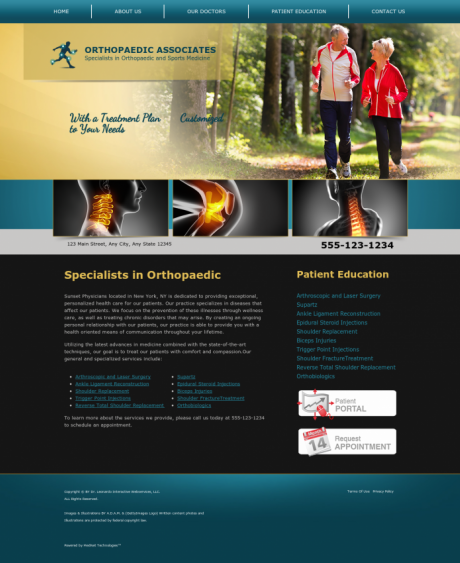 Orthopaedic Website Preview #4