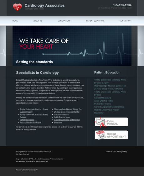 Cardiovascular Website Preview #5