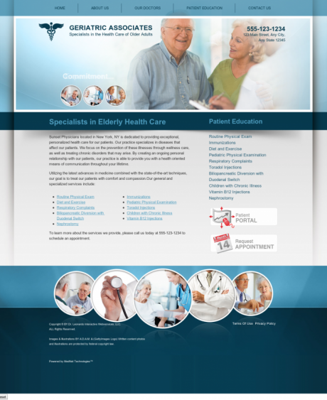 Internal Medicine Website Preview #9