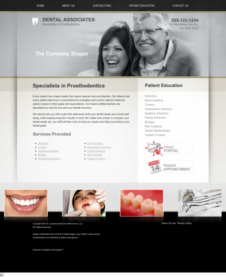 Prosthodontics Website Preview #4
