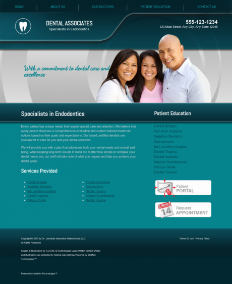 Endodontics Website Preview #7