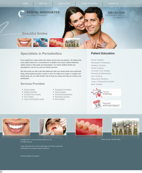 Periodontics Website Preview #6