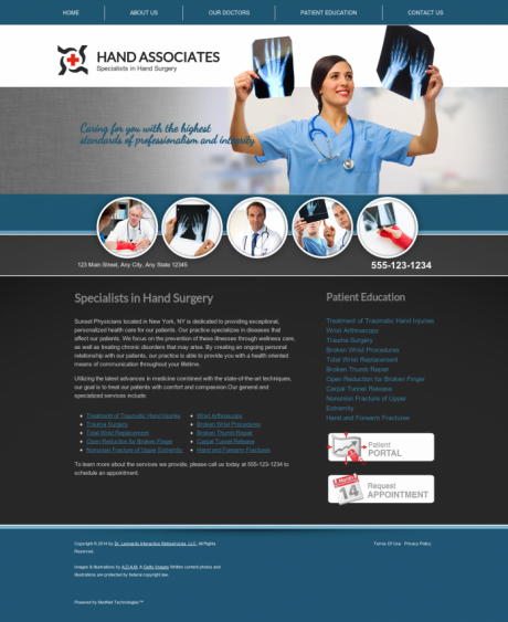 Hand Surgery Website Preview #3