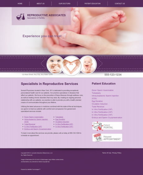 Reproductive Services Website Preview #6