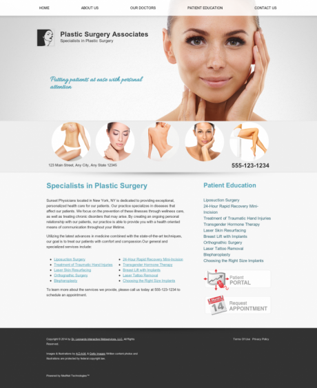 Plastic Surgery Website Preview #7