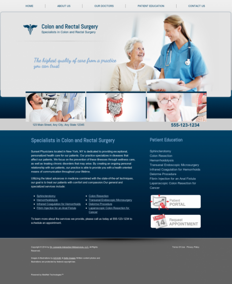 Colon & Rectal Surgery Website Preview #6