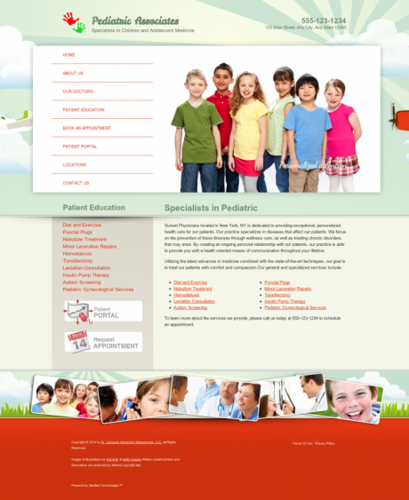 Pediatrics Website Preview #9