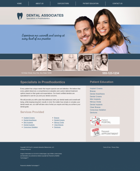 Prosthodontics Website Preview #1